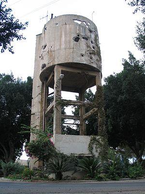 Negba - Image: Negba water tower 2