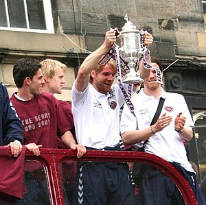 Robbie Neilson - Neilson holding the Scottish Cup in 2006