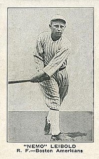 Nemo Leibold American baseball player