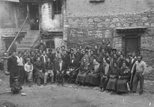 Nepalis in China - Nepalese Chamber of Commerce, Lhasa in 1955.
