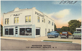 Packard dealer in New York State, ca. 1950-1955 Neuberger Motors, 1137 Broadway, Hewlett, N. Y.jpg