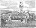 Neues Franziskanerkloster Dingolfing Holzstich 1873 (retuschiert).jpg