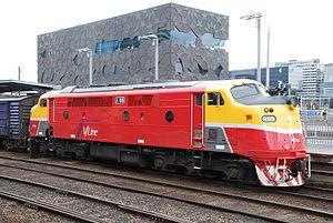 V/Line A class - V/Line liveried A66 at Southern Cross in September 2010
