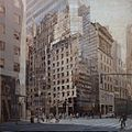 New York 5th Ave and 48th St, oil on linen, 59x59 inches, 2015.jpg