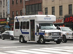 Nursing home care in the United States - A NYC Transit paratransit bus.