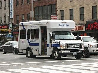 Paratransit - A NYC Transit paratransit bus.