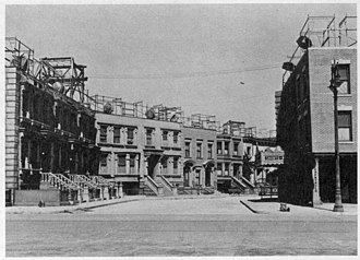 Columbia Ranch - A view of Brownstone Street on the former Columbia Ranch, Burbank