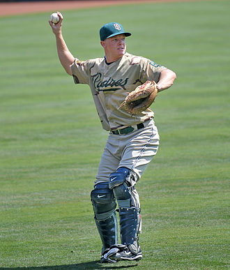 Nick Hundley - Hundley with the San Diego Padres in 2008