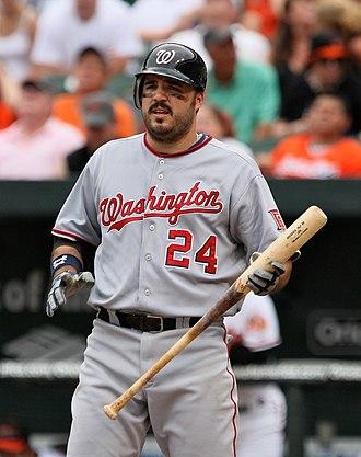 Nick Johnson (baseball) - Image: Nick Johnson on June 28, 2009