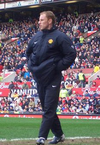 Nicky Butt - Butt on the sidelines at Old Trafford in March 2004