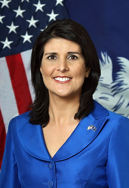 Nimrata Nikki Haley née Randhawa born January 20 1972 is an American politician who is currently the 29th United States Ambassador to the United Nations
