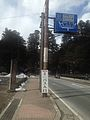 Nikkobashi Bridge and traffic sign 20140307.jpg