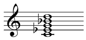 Pentachord - Image: Ninth chord CMI9 chord