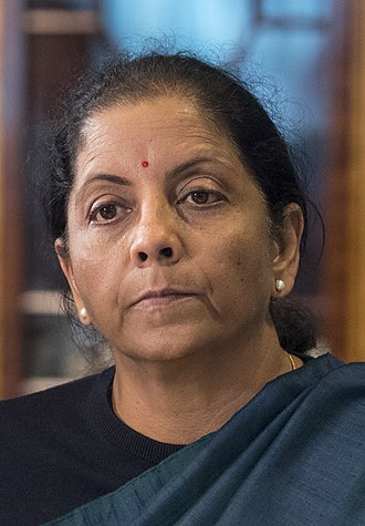 Minister of Defence (India) - Image: Nirmala Sitharaman 2018 (46166396231) (cropped)