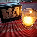 No Power in Irving Texas - 2021-02-18 - Clock and candle.jpg