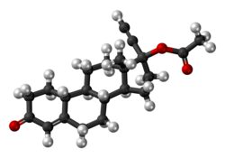 Norethisterone acetate molecule ball.png