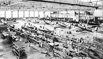 North American BT-9 - BT-9 production in 1936.