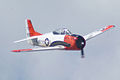 North American T-28B Trojan Navy N63NA Enemy Forces Suppression Pass 04 TICO 13March2010 (14412895958).jpg