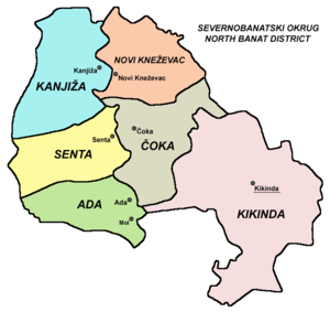 North Banat District - Map of North Banat District