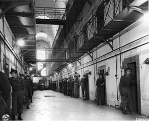 English: Main section of prisoners' call block...