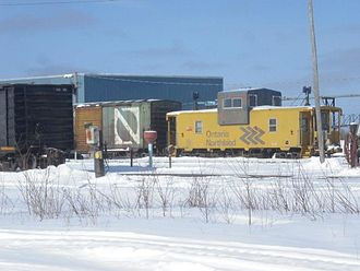 Ontario Northland Railway - ONR Caboose in Hearst in 2013