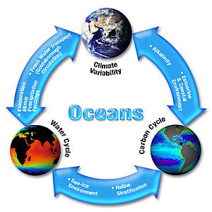 Earth system science - The dynamic interaction of the Earth's oceans, climatological, geochemical systems.