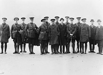 Queen Victoria's Rifles - Group of officers of the 9th (County of London) Battalion, London Regiment (Queen Victoria's Rifles)