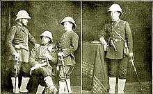142483c771448 Chilean officers of the 3rd Line Regiment wearing a pith helmet and white  gaiters at the outset of the War of the Pacific in 1879.