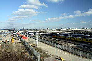 Old Oak Common railway station - Image: Old Oak Common Traction Maintenance Depot in London, spring 2013