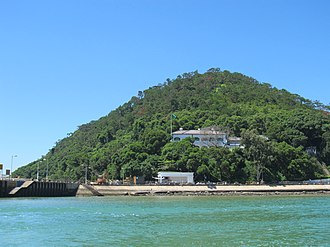 Old Tai O Police Station - Distant view of the Old Tai O Police Station.