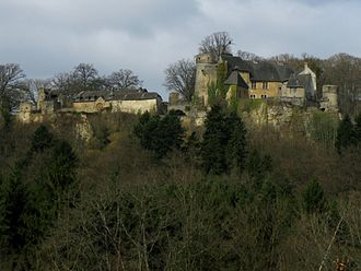 Valley of the Seven Castles - Image: Old castle, Ansembourg, Luxembourg