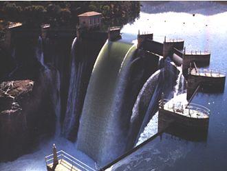 New Melones Dam - The original Melones Dam