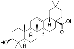 Strukturformel der Oleanolsäure