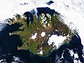 On August 22, 2014 the Moderate Resolution Imaging Spectroradiometer aboard NASA's Terra satellite captured a true-color image of a sunny summer day in Iceland. Original from NASA. Digitally enhanced by rawpixel. - 45638537994.jpg