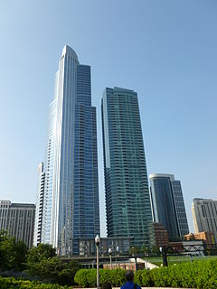 One Museum Park and One Museum Park West in 2011.JPG