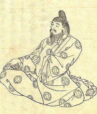 Ō no Yasumaro - Portrait of Ō no Yasumaro by Kikuchi Yōsai (19th century)