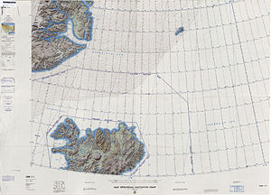 Steward Island - Map of NE Greenland and Iceland.