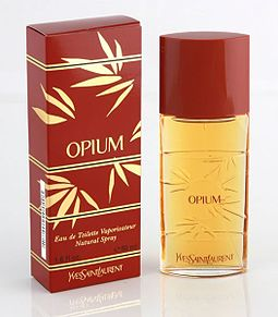 Opium by YSL, of amber or oriental fragrance class Opium by YSL.jpg