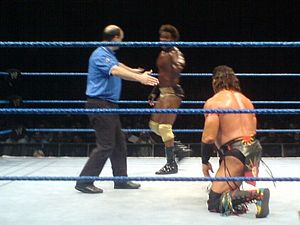 Orlando Jordan - Jordan in a wrestling match against Tatanka in 2006