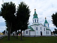 Orthodox church of the Protection of the Holy Virgin in Maladziečna Old Town - panoramio (1).jpg