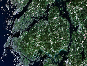 Satellitenbild von Orust