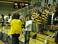 Oski at women's volleyball, SJSU at Cal 2009-09-12 1.JPG