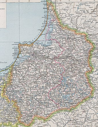 Map of the province of East Prussia in 1890 Ostpreussen 1890.jpg