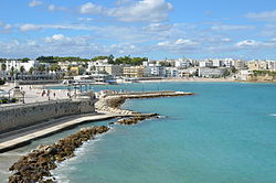 Beachfront of Otranto