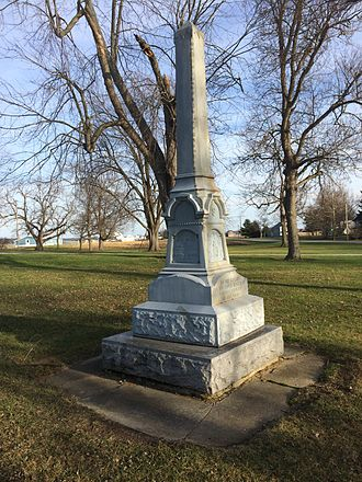 Ottokee, Ohio - A monument to women in wartime still stands in Ottokee.