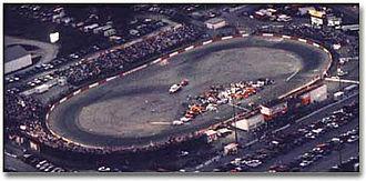 Figure 8 racing - Overhead shot of the track Indianapolis Speedrome