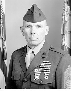 Harold G. Overstreet 12th Sergeant Major of the Marine Corps