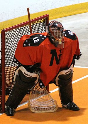 Harry lumley bayshore community centre wikivividly owen sound northstars goalie ryan oldrieve during 2015 season malvernweather Image collections