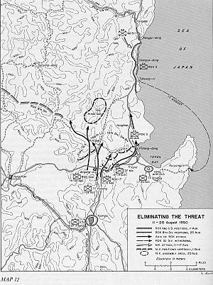 Battle of P'ohang-dong - South Korean units push North Korean forces northward after intense fighting, August 11–20.