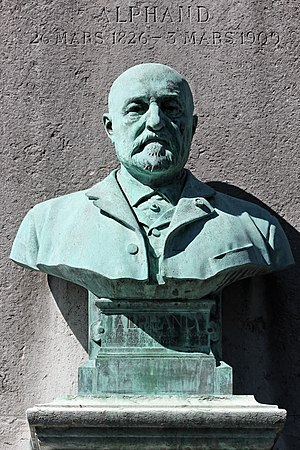 Jean-Charles Alphand - Bust of Jean-Charles Alphand over his tomb at Père Lachaise Cemetery; (Jules Coutan, sculptor)